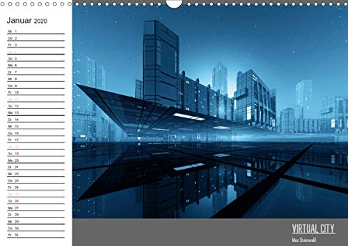 VIRTUAL CITY PLANER 2020 (Wandkalender 2020 DIN A3 quer)