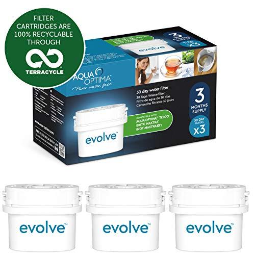 Aqua Optima Evolve 3-Monate-Packung, 3 x 30-Tage-Wasserfilter - Für *BRITA Maxtra (nicht für *Maxtra+) EVS301